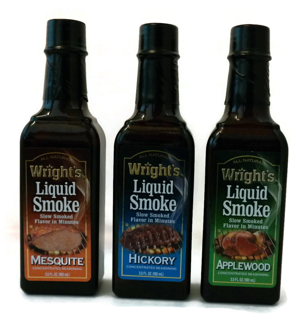 Wright's Liquid Smoke - Mesquite, Hickory, Applewood (3 Flavor Variety Pack of 3.5 Fl Oz Bottles)