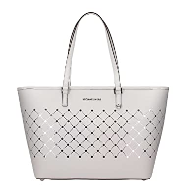 a81c364718add8 ... purchase michael kors 35s7sv1t3l violet optic white large carryall tote  leather handbag 5fa38 28707