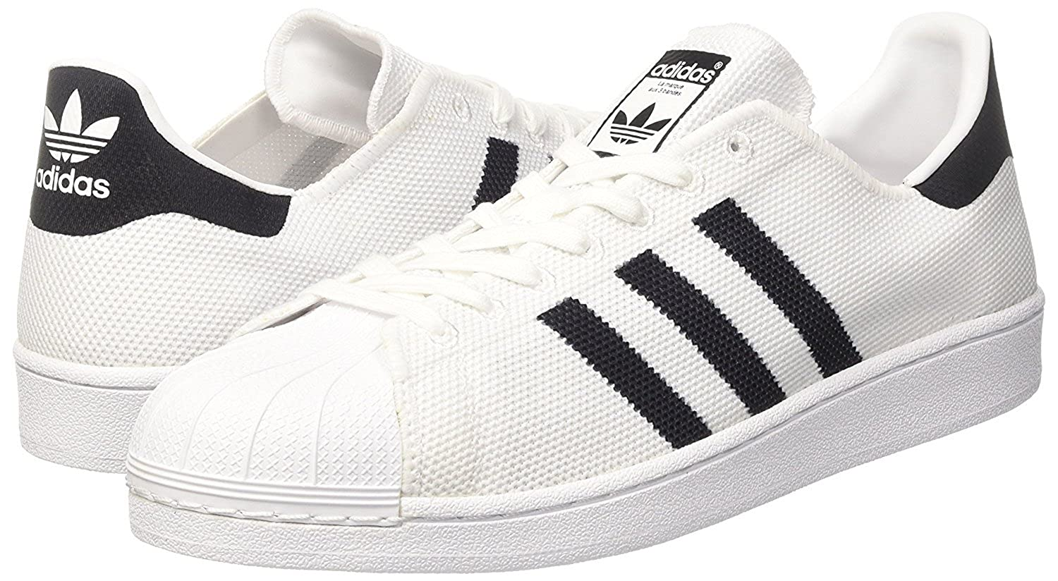 9f2003ff61b0c adidas Originals Mens Superstar Knit Shell Toe Trainers - 9 US White, Black