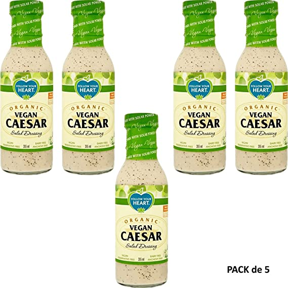 Follow Your Heart Aderezo de Ensalada Cesar 355ml Pack de 5