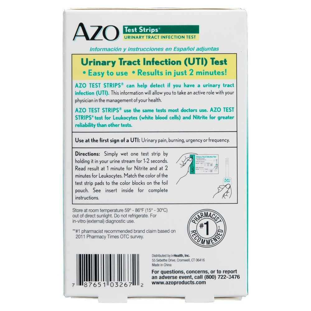 AZO Test Strips 3 Each (Pack of 11) by AMERIFIT (Image #1)