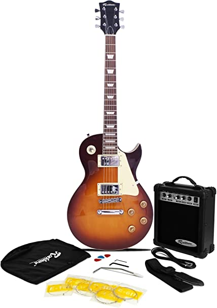 Rockburn LP2 guitarra eléctrica Pack - Sunburst: Amazon.es ...
