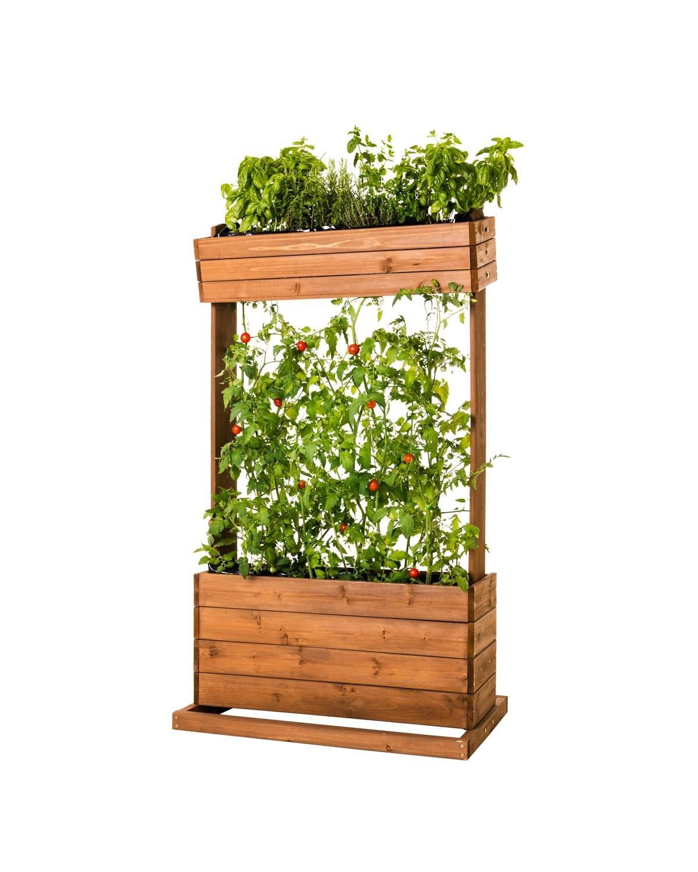 Vertikales Hochbeet 'cube2' Seilrankhilfe Blumenkasten Pflanzkübel Frühbeet Kräuterbeet