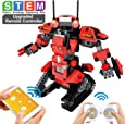 POKONBOY Upgraded Robot Building Blocks STEM Toys, Remote Control Engineering Robots for Kids to Build Educational Toys for 6 7 8 9 10 Year Olds and Up Science Kits