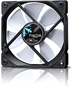 Fractal Design Dynamic GP-12 Computer Fan - High Airflow – 120x120x25 mm – 1200RPM – Hydraulic Fdb Bearings – Trip Wire - Aerodynamically Shaped Struts – 12V - White (Single), FD-FAN-DYN-X2-GP12-WT