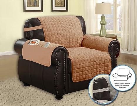 Cobertor de sofá guateado, en microfibra, con bolsillos ...