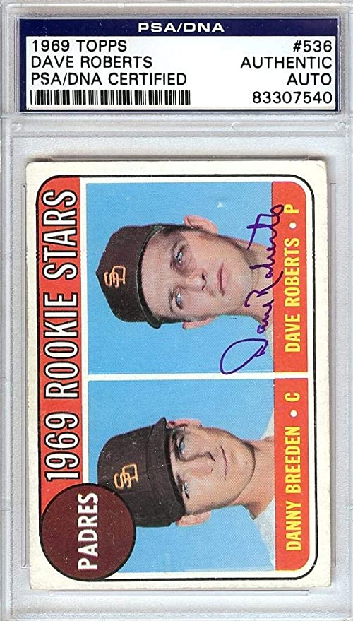 Dave Roberts Autographed 1969 Topps Rookie Card 536 San Diego