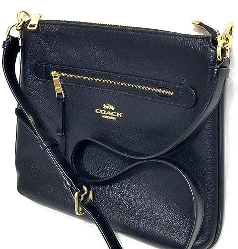 d5d019145c Coach Mae Crossbody Pebble Leather Bag Black: Amazon.co.uk: Shoes & Bags