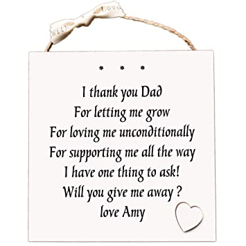 Will You Walk Me Down The Aisle Personalised Poem Card Someone