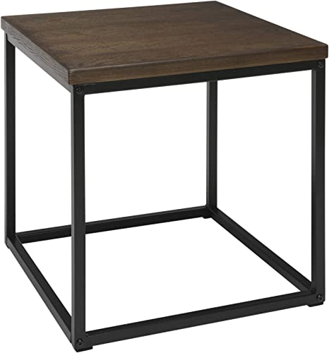 OFM 161 Collection Industrial Modern Wood Top/Metal Frame Side Table