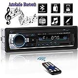 Bluetooth Car Stereo Multimedia Car Audio FM Radio Receiver Single Din Autoradio LCD Hands-Free Calling Built-in Microphone