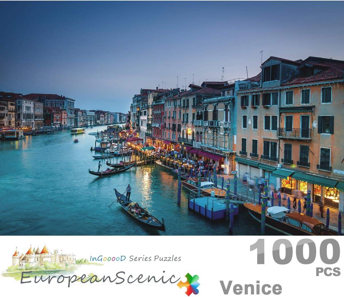 Ingooood Positano European Scenic Series Jigsaw Puzzle 1000 Pieces for Adult Wooden Toy Graduation