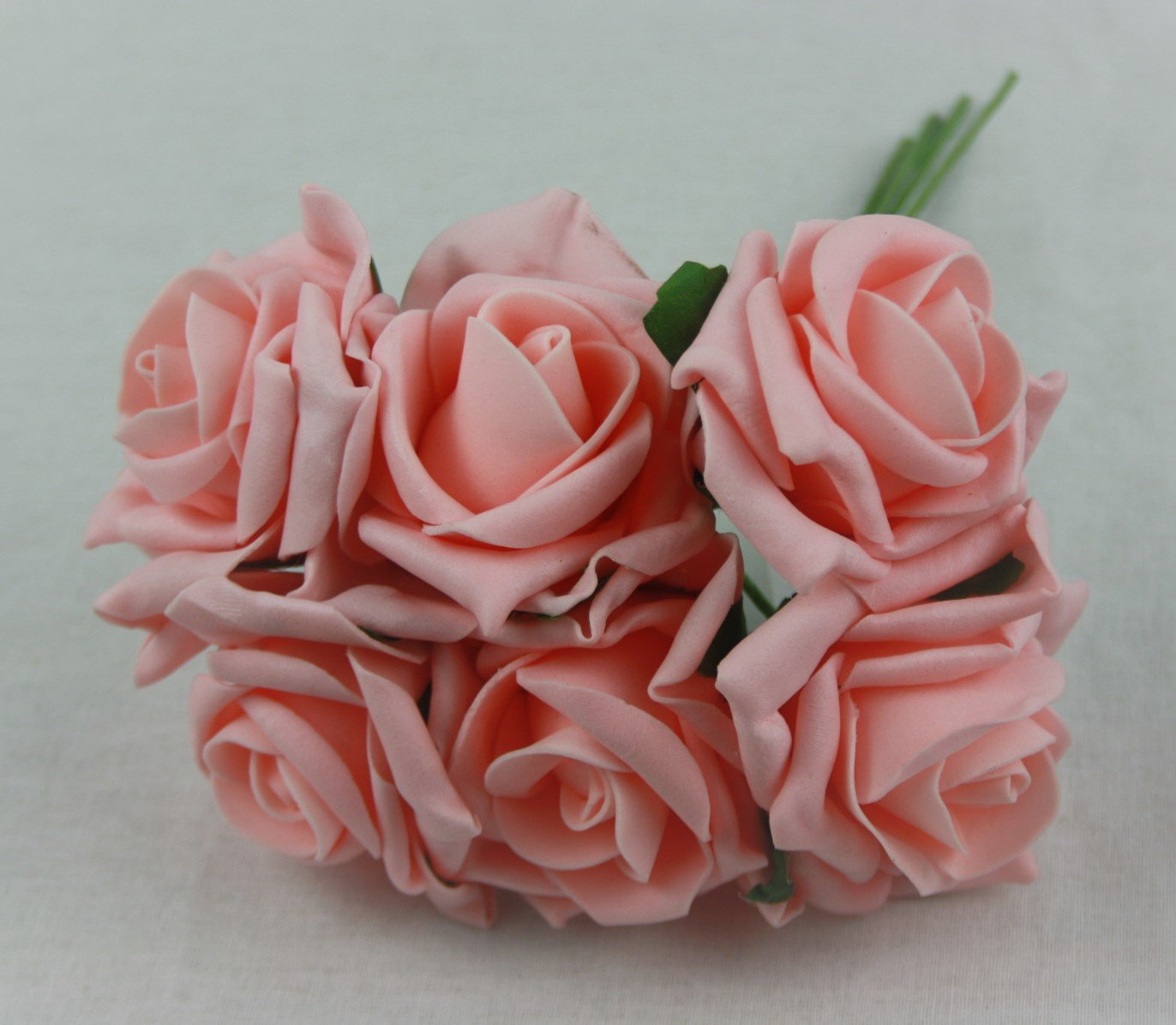 6 colourfast foam roses vibrant colours wedding flowers buttonholes (Ivory) WFC
