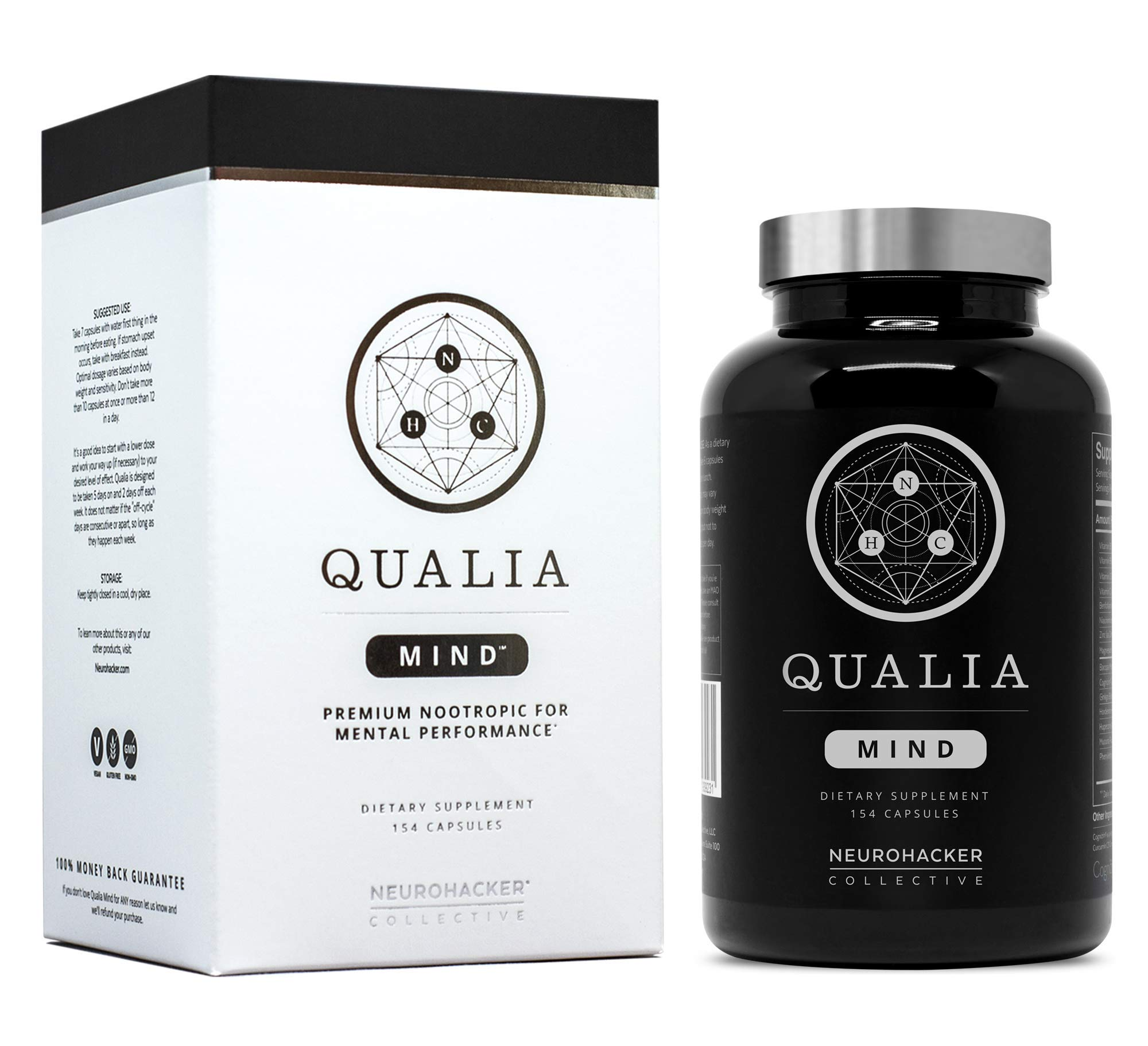 Qualia Mind Nootropics | Top Brain Supplement for Memory, Focus, Mental Energy, and Concentration with Ginkgo biloba, Alpha GPC, Bacopa monnieri, Celastrus paniculatus, DHA & More.(154 Ct) by NEUROHACKER COLLECTIVE