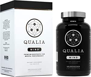 Qualia Mind Nootropics | Top Brain Supplement for Memory, Focus, Mental Energy, and Concentration with Ginkgo biloba, Alpha GPC, Bacopa monnieri, Celastrus paniculatus, DHA & More.(154 Ct)