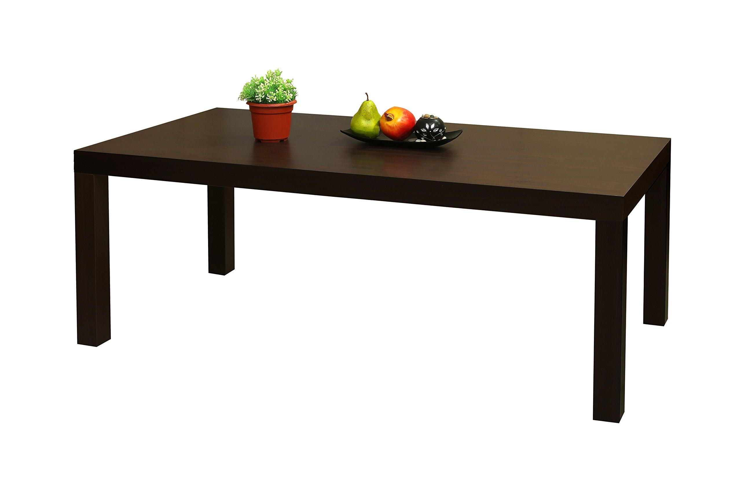 Kings Brand Furniture Wood Modern Parsons Coffee Table, Dark Brown