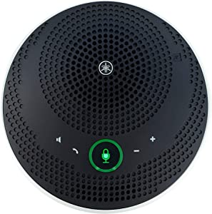 Bluetooth Speakerphone - Yamaha UC YVC-200 Wireless Mobile Conference Phone, Portable USB Speakerphone for Conferencing (Black)