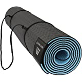 Goture Non Slip SGS Certified TPE Material Yoga Mat With Carry Strap - High Density Thick 1/4'' Durable Mat 72''24'' Eco Safe Non Toxic Pilates Mat