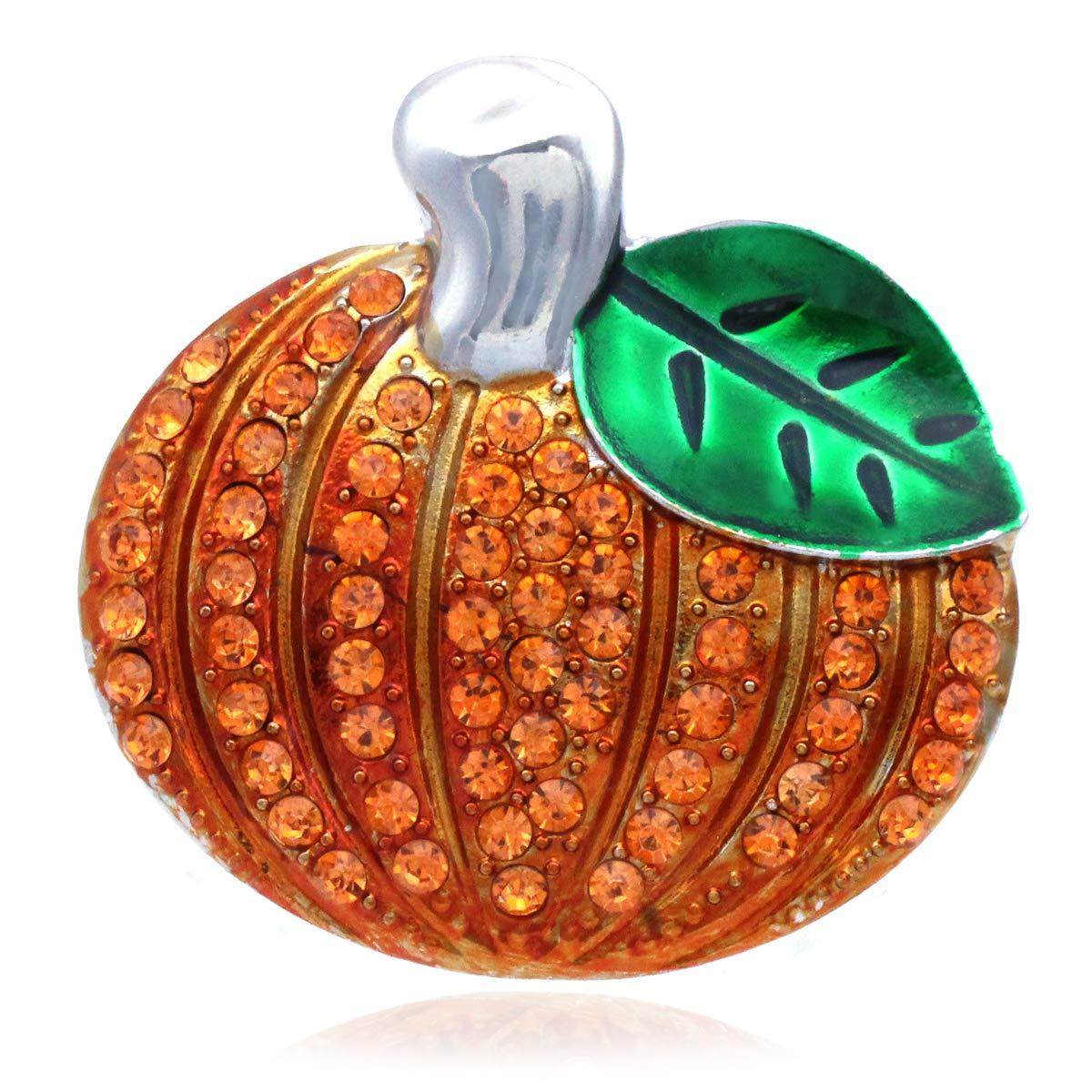 Soulbreezecollection Happy Halloween Party Event Pumpkin Thanksgiving Fall Brooch Pin (Silver-Tone)