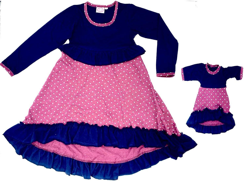 passendes zweiteiliges Kleid Lilli/&Me M/ädchen-Kleid und Puppen