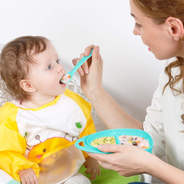 Facile /à Transporter,Vert GallopHarsou Ensemble de Vaisselle Pour B/éb/é sans BPA Vaisselle pour Enfants de Vaisseau Spatial et Fus/ée pour B/éb/és