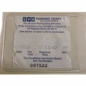 Autocollant de pare-brise pour cartes de Ticket de parking permis