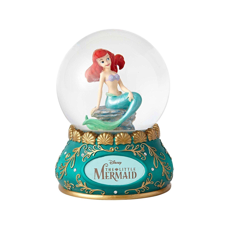"Enesco Disney Showcase The Little Mermaid Stone Resin and Glass Waterball, 5.5"""