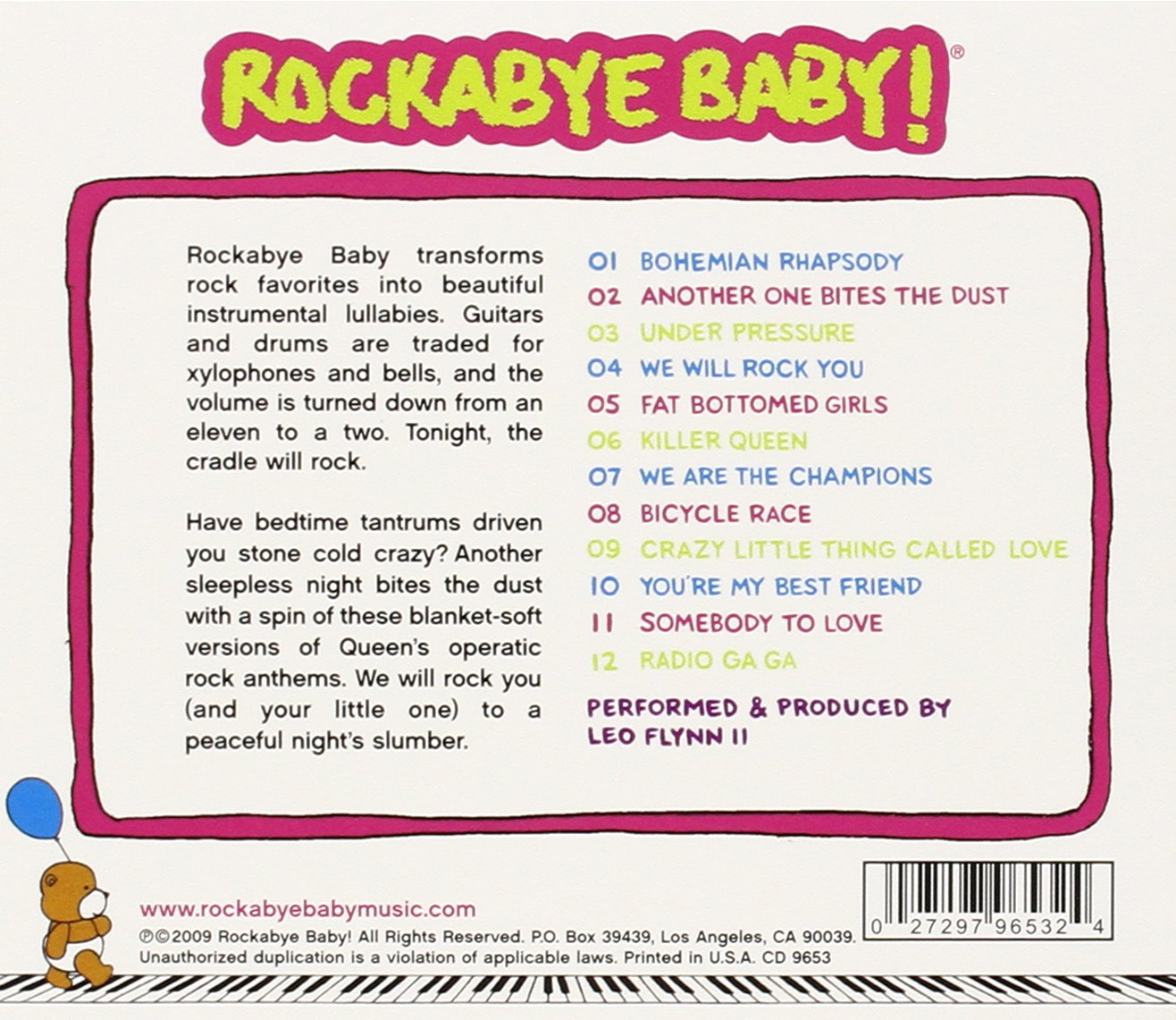 Rockabye Baby! Lullaby Renditions of Queen by Super-D