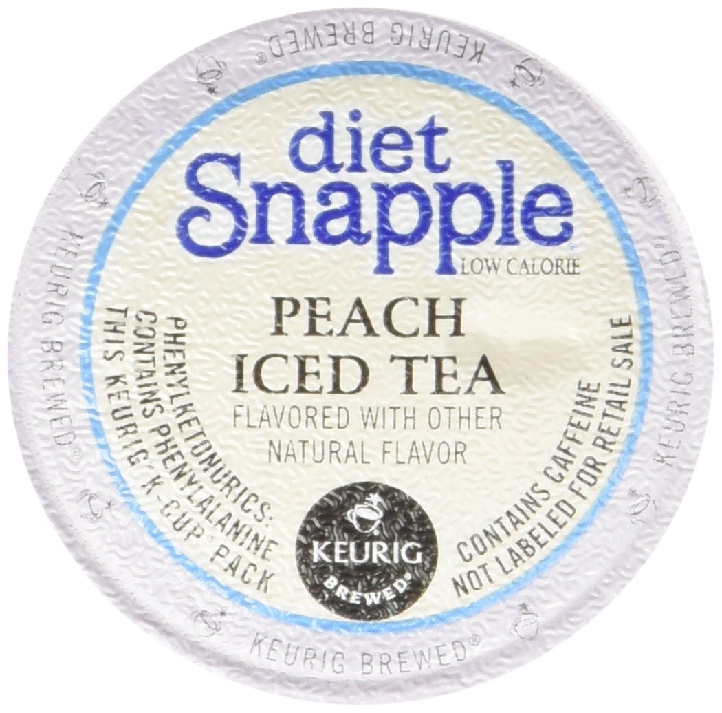 Snapple Diet Peach Iced Tea, 1.7 Ounce (Pack of 6) by Snapple