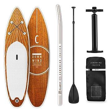 Klarfit Tabla Paddle Surf Hinchable - Kauai Flow Sup Surf, Paddleboard, Bomba Aire, Pala, Correa de Seguridad, Mochila de Transporte, Kit reparación ...