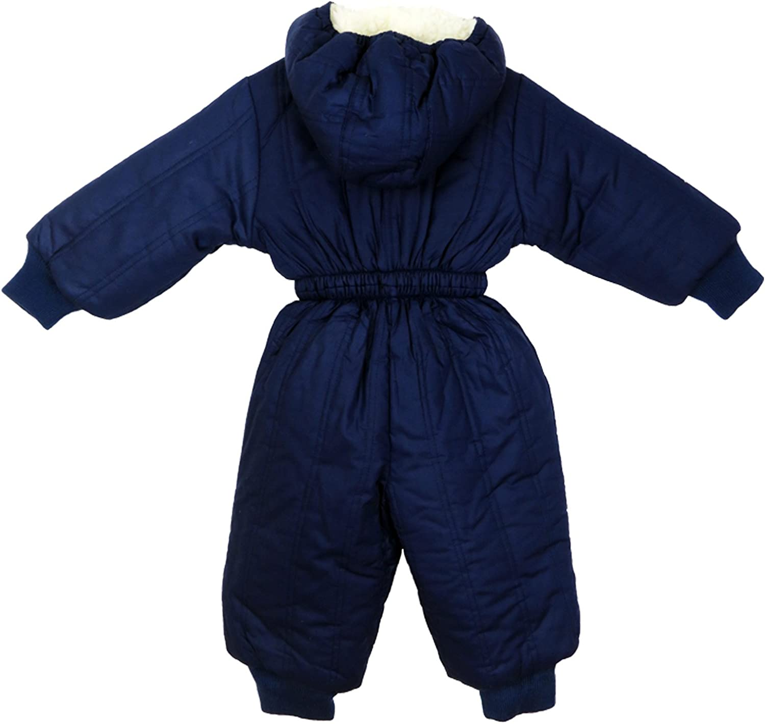 Kids Blue Padded All-in-One Waterproof Suit Snowsuit Childs Childrens Boys Girls 12-18Months