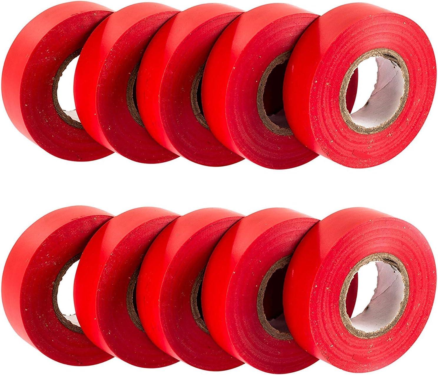 20 m x 19 mm GTSE 10 rollos de cinta aislante el/éctrica de PVC verde Paquete premium de 10 rollos Cinta de alta calidad