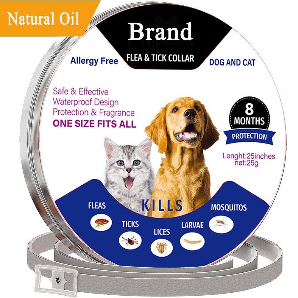 PanDaDa Dog Fela and Tick Collar 8 Months Long Lasting Essential Oil Pest Control Collars