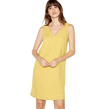 b6a7fcc8957 Principles Womens Yellow Linen Blend Knee Length Dress  Principles   Amazon.co.uk  Clothing