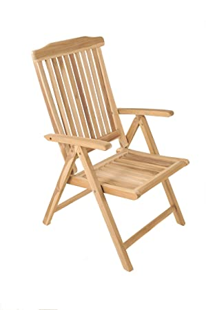 Enjoyable Sam High Backed Garden Chair Teak Garden Furniture Folding Recliner Chair With 5 Positions Teak Furniture With Sanded Surface Solid Wood Creativecarmelina Interior Chair Design Creativecarmelinacom