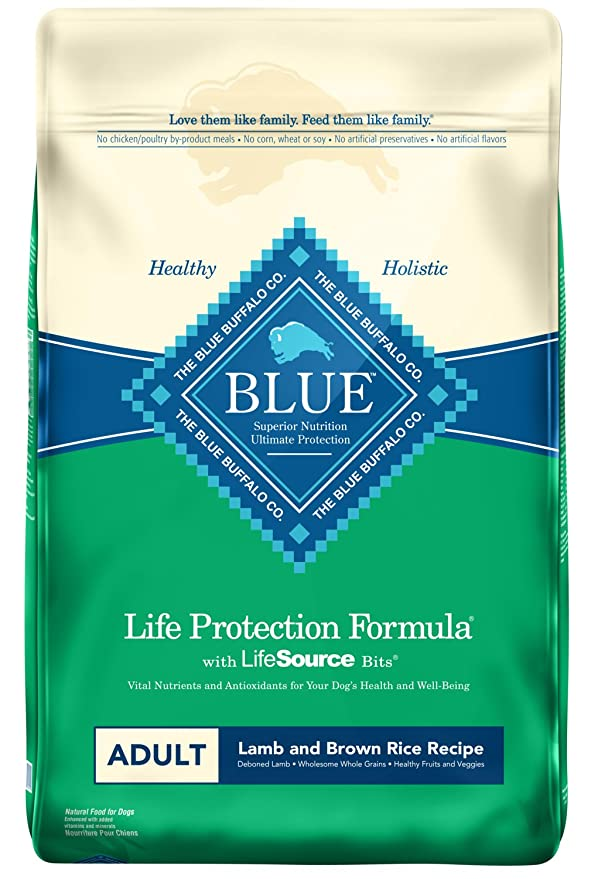Blue Buffalo BLUE Life Protection Formula Adult Dry Dog Food - The Best High-Calorie Dog Food for Overall Health