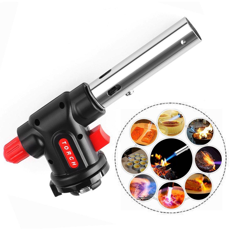 Portable Gas Torch Burner Blow, Outdoor Lighter for BBQ Flamethrower Burner for Cooking 15 * 6.5 * 4cm Txyk