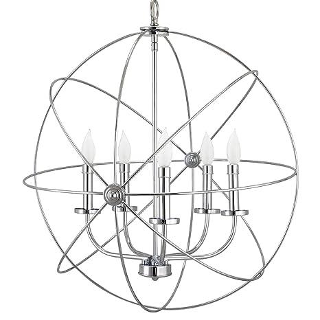 Kira Home Orbits Ii Large 24 5 Light Modern Sphereorb Chandelier