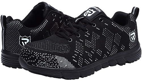 Zapatillas de Seguridad Mujer/Hombre DY-112, Zapatos de Trabajo con Punta de Acero Ultra Liviano Suave y cómodo Transpirable: Amazon.es: Zapatos y ...