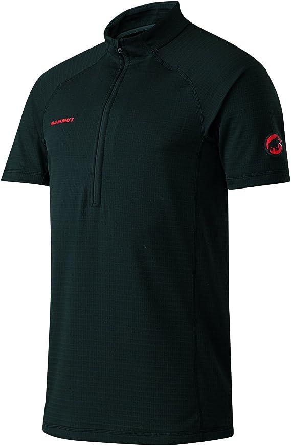 Atacazo Zip-T Men Mammut Workoutshirt, color:black-graphite ...