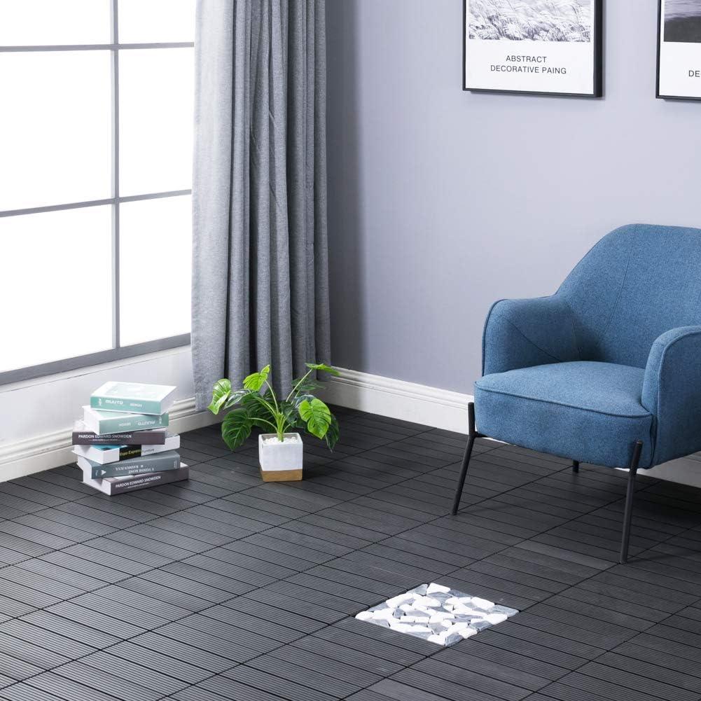 Panda Home Wood Plastic Composite Patio Deck Tiles