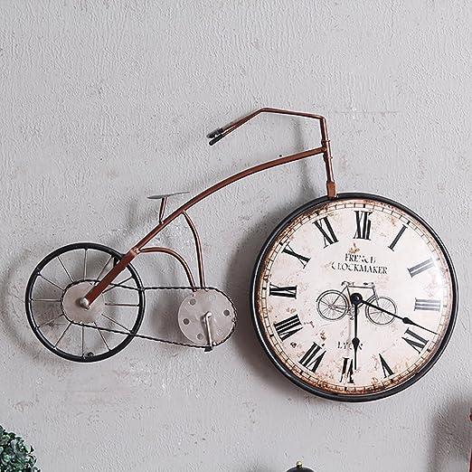 Reloj De Pared Artesanal Vintage Creative Bicicleta Decoración De ...