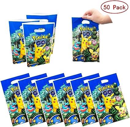 Amazon.com: 50 paquetes de bolsas de regalo Pikachu para ...