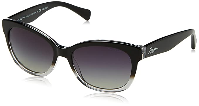 RALPH Womens 0RA5219 1448T3 Sunglasses, Black Gradient/Black/Greygradientpolarized, 56 Ralph Lauren