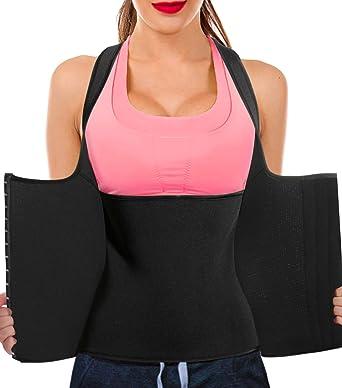 a15083ec6a Bingrong Women Neoprene Sauna Sweat Waist Trainer Vest for Weight Loss Gym Workout  Body Shaper Tank