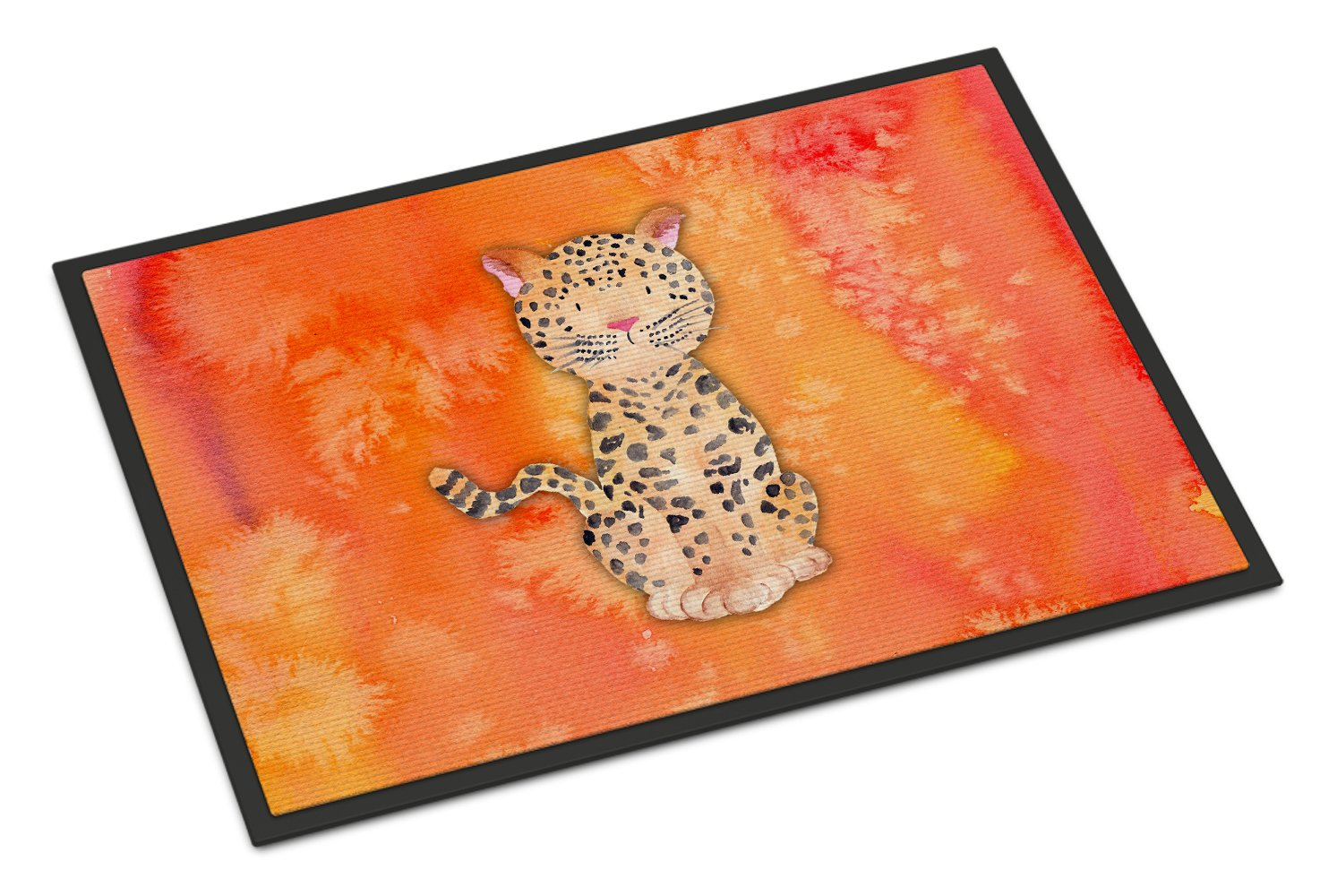 Caroline's Treasures Leopard Watercolor Doormat 24' x 36' Multicolor