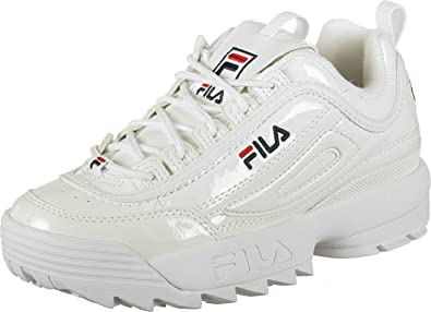 buying new vast selection new styles Fila Disruptor M W Shoes White Patent: Amazon.co.uk: Shoes ...