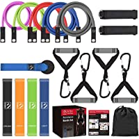 FITINDEX 22PCS Resistance Bands Set with Handles, Workout Bands Resistance5,0 Exercise Bands Stackable Up to 150lbs with…