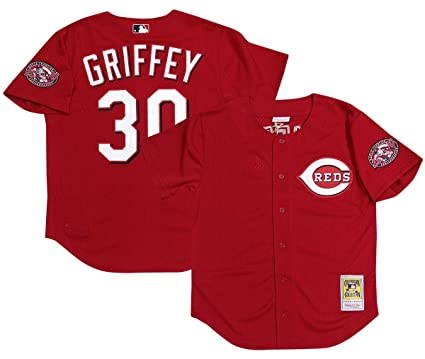 separation shoes 64e42 d252c Amazon.com : Mitchell & Ness Cincinnati Reds Ken Griffey Jr ...