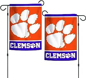 "WinCraft NCAA Clemson Tigers 12.5"" x 18"" Inch 2-Sided Garden Flag Logo"